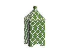 Hand-Painted Trellis Stoneware, Green on OneKingsLane.com