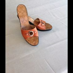 Coach wedge sandals Coach wedge sandals. Worn a few times with care Coach Shoes Sandals