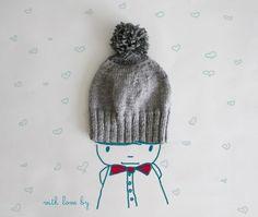 Knit-  pompon hat!!