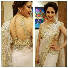 From Manish Malhotra to Sabyasachi, discover the latest saree blouse designs for 2019 for weddings and parties, inspired by Bollywood and runway trends. Blouse Back Neck Designs, Saree Blouse Designs, Indian Dresses, Indian Outfits, Latest Saree Blouse, Blouse Designs Catalogue, Stylish Blouse Design, Lehenga Choli Online, Designer Blouse Patterns