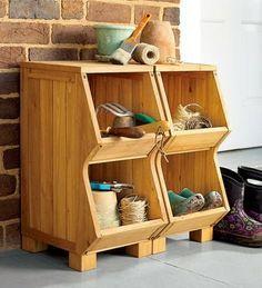 Outdoor/Indoor DIY wooden storage bins