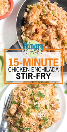 Healthy Chicken Enchilada Stir-Fry Recipe, 15-Minute Weeknight Dinner for Two | Hungry Girl Heart Healthy Recipes, Skinny Recipes, Ww Recipes, Mexican Food Recipes, Cooking Recipes, Clean Recipes, Turkey Recipes, Hungry Girl Recipes, Hungry Girl Diet