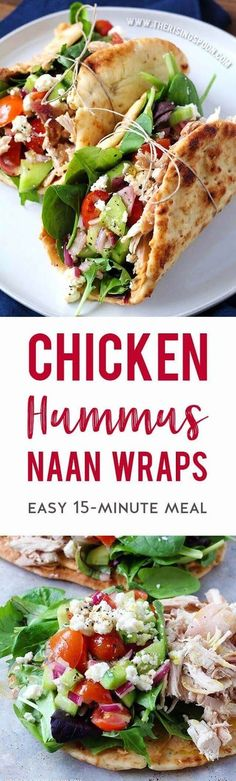 An easy chicken wrap