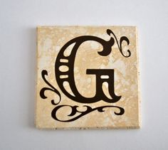 Personalized Travertine Coasters  Set of by FrillsAndFlairGifts, $11.99