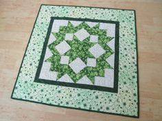 St Patrick's Day Quilted Table Topper 422 by QuiltinWaYnE on Etsy