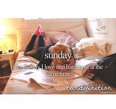 I love it bcz i can fulfil my sleep and i hate it bcz I cannot meet my friends