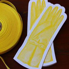 Letterpress Bookmark - Glove | Sesame Letterpress Store