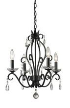 Z-Lite Princess Chandeliers Matte Black Rustic Chandelier at Lowe's. Beautifully cut clear crystals are paired with a matte black finish in this 4 light mini chandelier. The unique chandelier will provide a touch of sparkle Candle Chandelier, Black Chandelier, Rustic Chandelier, Chandelier Lighting, Chandeliers, Chandelier Chain, Home Depot, Residential Lighting, Selection