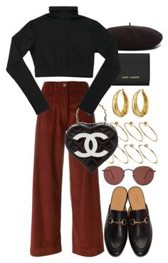 """""""Valentine's Day 3"""" by nikka-phillips ❤ liked on Polyvore featuring ASOS, Yves Saint Laurent, Ray-Ban, SEMICOUTURE, Chanel, Gucci and Lucky Brand"""