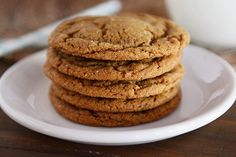 Classic soft and chewy ginger molasses cookies - these delectable, holiday (or anytime) treats are like gingerbread in cookie form!