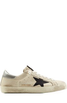 GOLDEN GOOSE Super Star Leather Sneakers. #goldengoose #shoes #sneakers