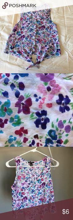 Forever 21 Sleeveless multicolored flowery shirt Like new Forever 21 Tops Tank Tops