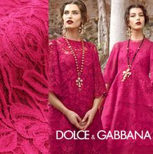 2014 new New + Best quality large bright rosy red flowers Duolei Si Italian fabrics imported fashion fabrics on sale(China (Mainland))