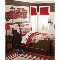 Firetruck Bedroom Pottery Barn Kids When He Is Older Maybe Themes