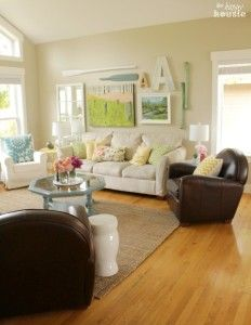 Summer House Tour at The Happy Housie Living Room 1