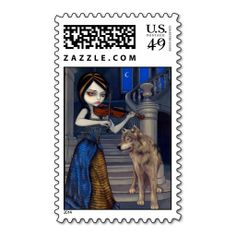 """""""Wolf Song"""" Stamp"""