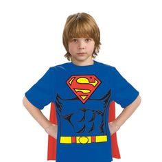 Kids Dc Comics Superman T Shirt With Removable Printed Cape