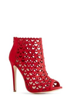 Gorgeous V-Day booties in what else but Valentine's RED ♡ ♥ Available at JustFab.com, but unfortunately, already sold out in my size :(   (8.5)