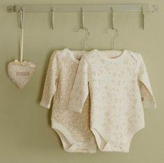 Little Leaves 2pk Long Sleeved Bodysuits - Print leaves 2 pack body suit LS 4895153004212