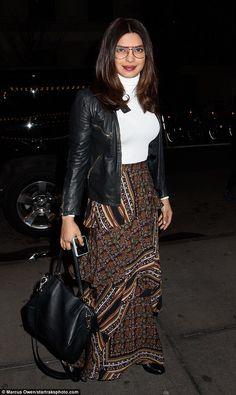 Gotham gal:Priyanka Chopra, 34, was snapped looking lovely in New York City on Thursday...