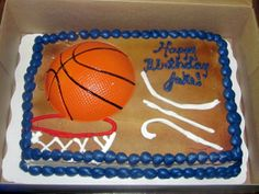 Six Dream Weavers: What a busy day for a birthday!Basketball birthday cake 7