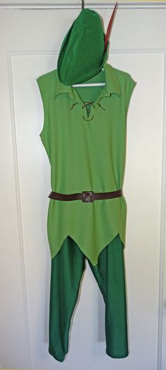 Peter Pan Inspired Women's or Girl's Green Capris