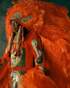 MARDI GRAS INDIANS by Christopher Porché West - Felton Brown, White Eagles