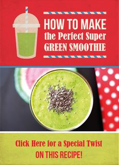 Dying for a super green smoothie recipe that tastes good enough to drink for breakfast? Look no further because we've got your AM nutrient boost right here. #smoothies