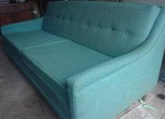 1960s Turquoise Couch by lolie jane, via Flickr