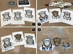 new hipster framelits for hipster stamps…   Tim Holtz