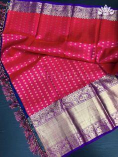 Pure Kanjivaram Full Zari Saree in Red Pink Dual Tone with thousand bu – Shobitam Kanjivaram Sarees, Silk Sarees, Beautiful Saree, How To Look Classy, Red And Pink, Color Combinations, Ready To Wear, Hand Weaving, Pure Products