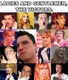 Lol haha funny pics / pictures / Hunger Games Humor / Jennifer Lawrence / Josh / Peeta / Katniss