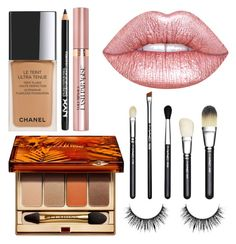 """Scarlett's sailing makeup look"" by fashionandfriends on Polyvore featuring beauty, Chanel, NYX, Clarins, L'Oréal Paris, Lime Crime and MAC Cosmetics"