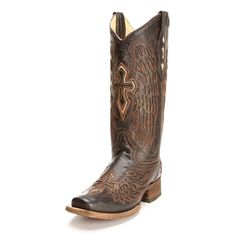 Corral Cross and Wing Cowgirl Boots