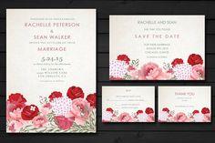 Breathtaking Bloom Wedding Invite by kreativepencils on @creativemarket