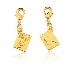 Pingente Carta #pingente #carta #folheado #ouro #fashion #moda #inlove #amomuito #loucasporacessorios #fmelos