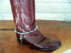 """Boot Bracelet-Turquoise and """"Bling"""" Boot Jewelry - great jewelry for those of us who love to wear boots!"""