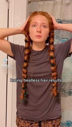 Curly Hair Tips, Easy Hairstyles For Long Hair, Pretty Hairstyles, Girl Hairstyles, Curly Hair Styles, Braided Hairstyles, Aesthetic Hair, Hair Videos, Hair Looks