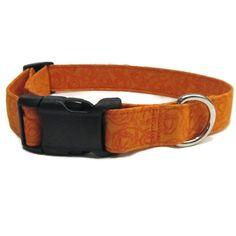 Orange Dog Collar Halloween Dog Collar Holiday by DogsBestTrend