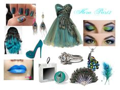 """""""Hera Part 2"""" by shadow13goddess101 ❤ liked on Polyvore featuring Lord & Taylor, PacificPlex, Christian Louboutin, Nautica, Jon Richard, Alkemie, peacock feathers, nail designs, hera and earings"""