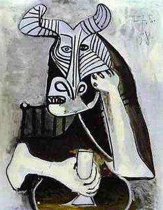 Pablo Picasso - The King of the Minotaurs. Pablo Picasso all . Kunst Picasso, Art Picasso, Picasso Drawing, Picasso Paintings, Henri Matisse, Henri Rousseau, Georges Braque, Paul Gauguin, Art Visage