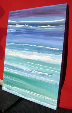 Neverending Sea Original Abstract Acrylic by AstralPaintings