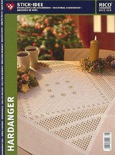Hardanger #16, Christmas Embroidery. Hardanger, beautiful table topper for Christmas.