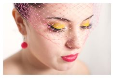 Hot pink bridal veil created by Kelly Spence for neon shoot by @Want That Wedding | Inspiration & Ideas Blog ~ Sonia Collett