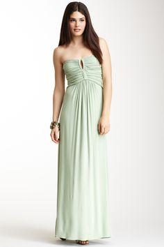 Sky: Braided Strapless Maxi Dress
