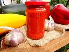 cukinia, papryka, pasta, sos pikantny, sos ostry, przetwory domowe, sos do słoików