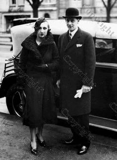 Prince Nicholas with his 1st wife Ionna, a divorced commoner. After this marriage Nicholas was banished from Romania and stripped of his royal titles, becoming known as Nicholas Brana.