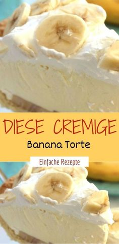 This creamy banana pie- Diese cremige Banana Torte For the ground: 130 grams of flour teaspoon of salt 6 tablespoons of cold butter 4 tablespoons of ice cold water for filling: 1 packet of banana pudding to whip up (eg from Dr. Oetker) 400 ml of milk 1 - Sheet Cake Recipes, Cookie Recipes, Dessert Recipes, Banana Pie, Easy Banana Bread, Banana Cream, Punch Bowl Cake, Cake Mix Cookies, Lemon Desserts