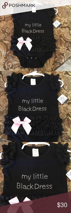 6ae697aa3 Baby girl onesie Black GANZ baby girl onesie with tutu and pink bow that  reads
