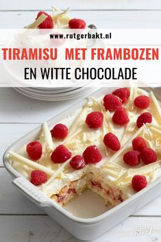 Christmas dessert: tiramisu with raspberries and white chocolate - Köstliche Desserts, Delicious Desserts, Dessert Recipes, Yummy Food, Xmas Food, Christmas Desserts, White Chocolate Desserts, Chocolate Chocolate, Proof Of The Pudding